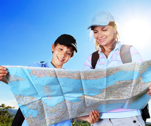 Mother and Son Reading Map