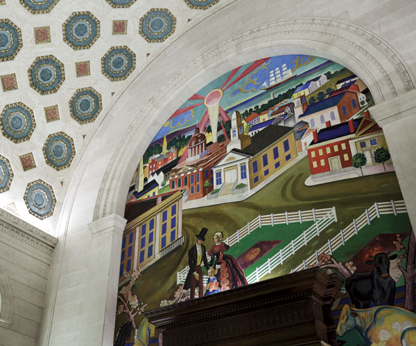 Cleveland Public Library William Sommer 1833 Mural