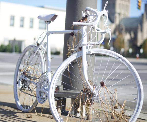 Ghost Bike Cleveland