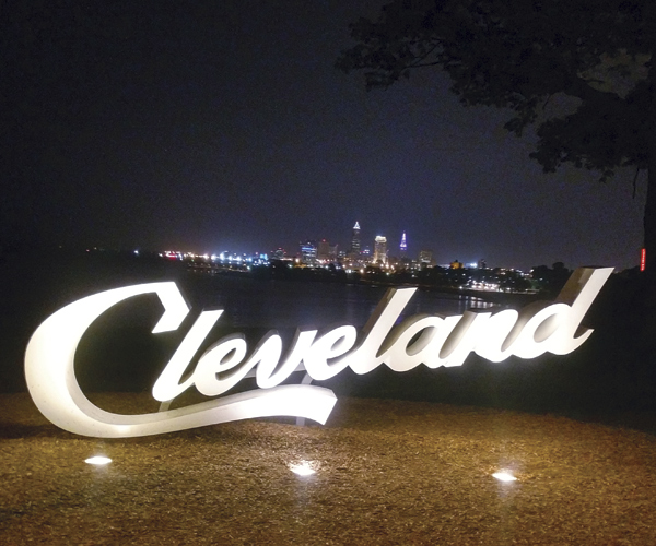 Cleveland Sign at Night
