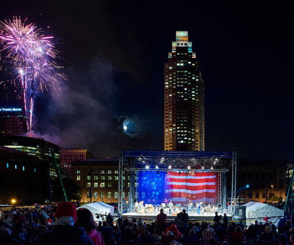 Downtown Cleveland Fireworks