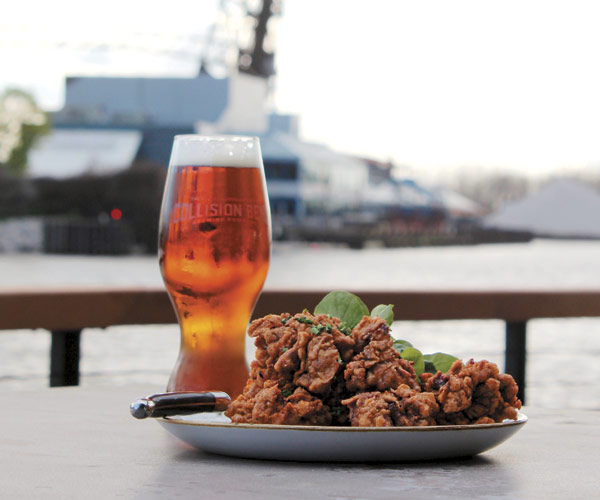 Collision Bend Brewing Co. fried chicken livers