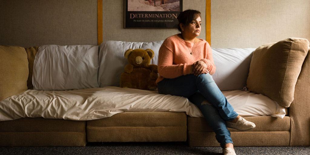 Leonor Garcia in her apartment