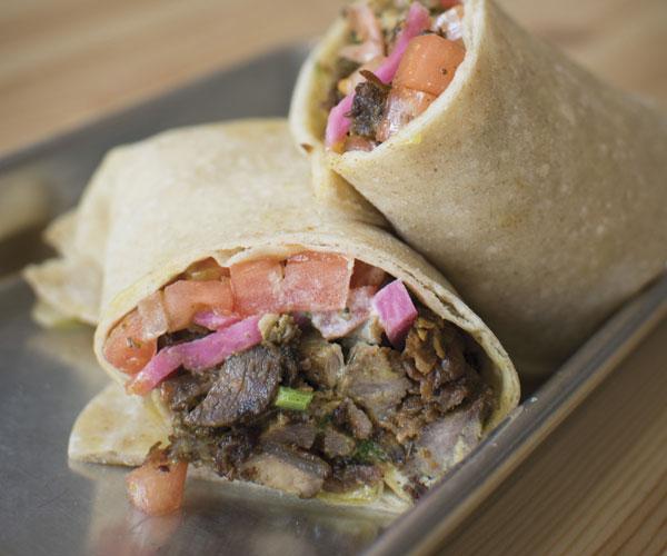 Beef Shawarma Rolled Pita