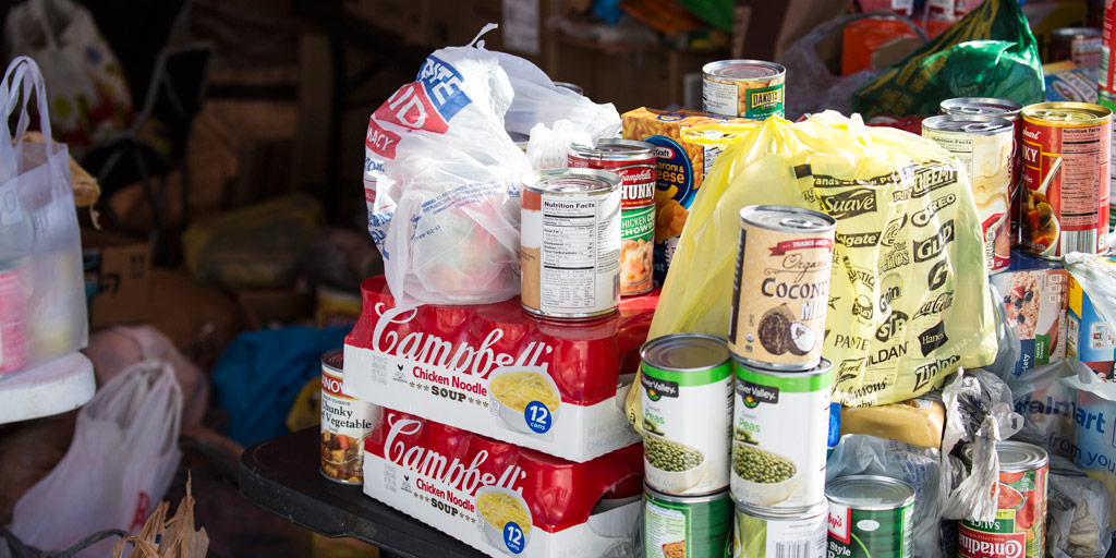 Donations to Cleveland Food Bank