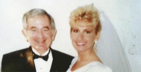 Julie Mooney at her wedding