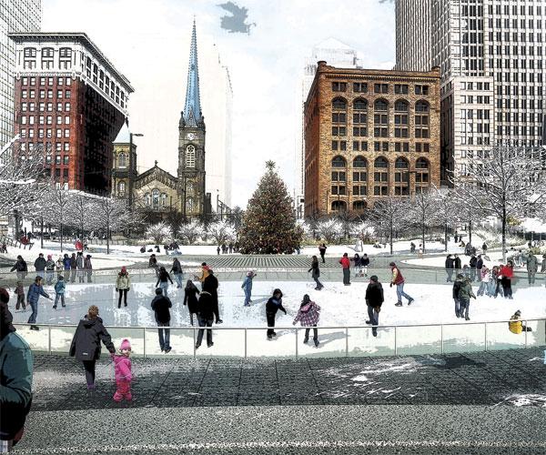 Public Square Winter