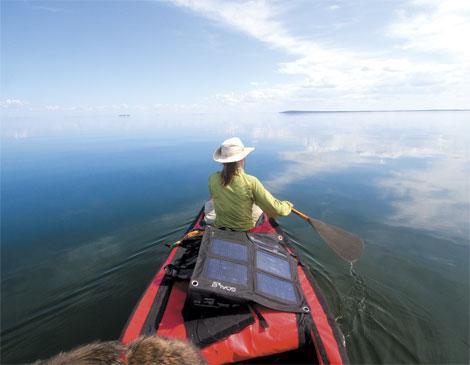 Solar Panel Canoe