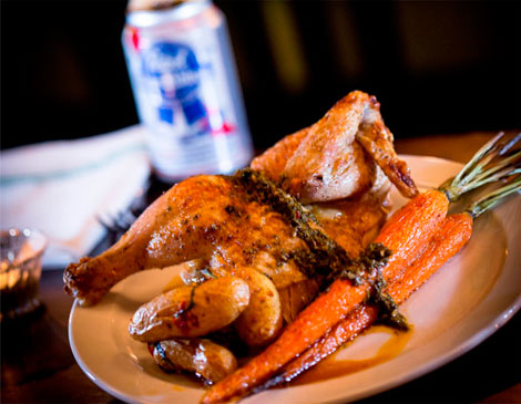 Crumb and Spigot Beer Can Chicken