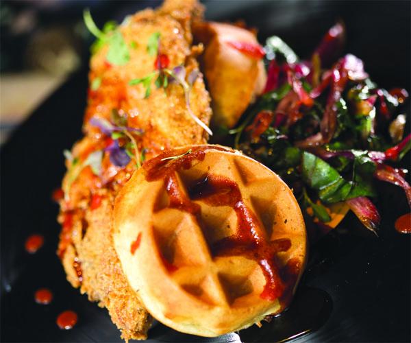 Crop Rocks Chicken and Waffles