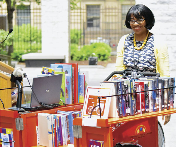 Cleveland Public Library Book Bike