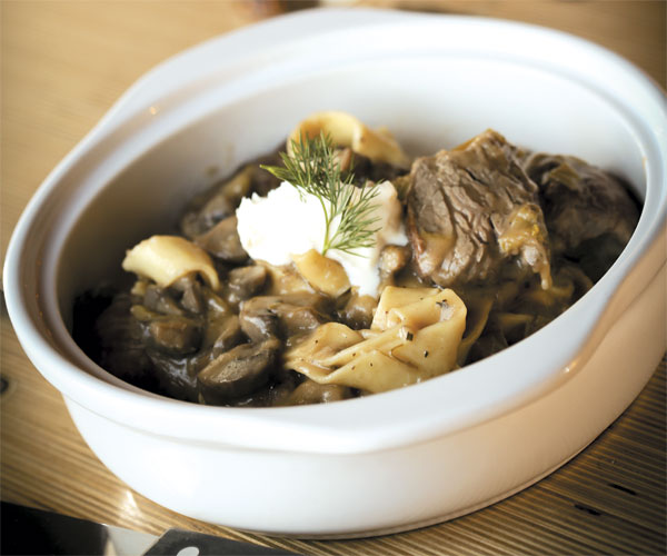 Great Scott Tavern's Braised Beef Stroganoff