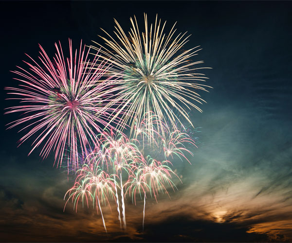 Suburban Fireworks