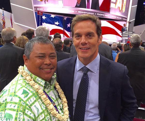 Benny Pinaula and Fox News' Bill Hemmer