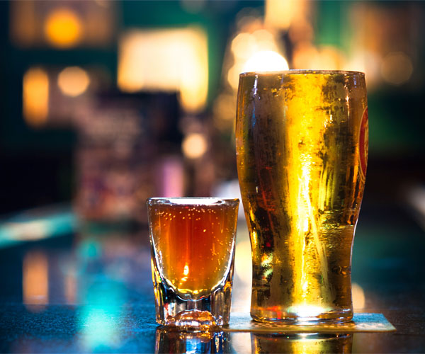 beer and shot