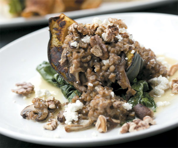 Flying Fig's Acorn Squash With Mushroom Risotto