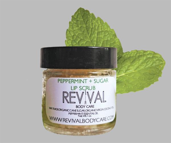 Revival Body Care's Peppermint & Sugar Lip Scrub