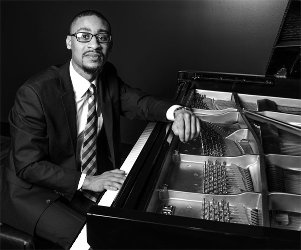 Jazz pianist Theron Brown